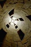 Внутренний взгляд лестницы двойной спирали Стоковые Фотографии RF