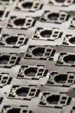 Внутренний взгляд рамки металла кнопки клавиатуры компьютера Стоковые Фото