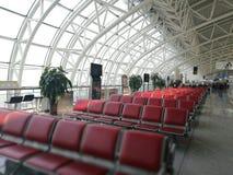 Внутренний взгляд с специальным углом деталей в авиапорте Longjia Стоковое фото RF