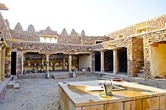 Внутренний взгляд форта Khaba, Jaisalmer, Раджастхана, Индии Стоковые Фотографии RF