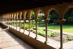 Внутренний двор монастыря Pedralbes Стоковое фото RF