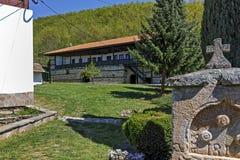 Внутренний двор монастыря St. George Temski, республики Сербии Стоковые Фото