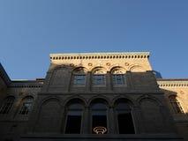 Внутренний двор публичной библиотеки Бостона, Бостона, Массачусетса, США стоковая фотография rf