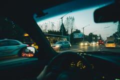 Внутренний городской транспорт автомобиля Стоковое Фото
