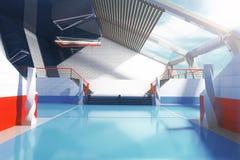 Внутренний голубой пол Стоковая Фотография RF