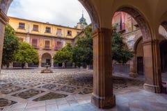 Внутренний двор больницы Сан-Хуана De Dios 8 стоковое фото