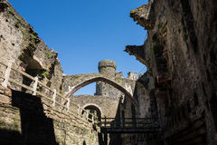 Внутренний замок Conwy Стоковое Фото