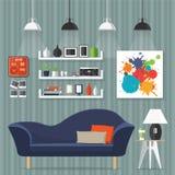 Внутренний дизайн комнаты Стоковое Изображение