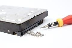Внутренний дисковод жесткого диска (HDD) - аппаратные компоненты компьютера Стоковые Фотографии RF
