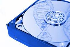 Внутренний дисковод жесткого диска (HDD) - фокус аппаратных компонентов компьютера Стоковое Изображение
