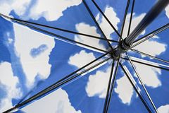 Внутренний механизм складывая зонтика Стоковое Изображение