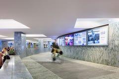 Внутренний новый железнодорожный вокзал Бреда, Нидерланды Стоковые Фотографии RF