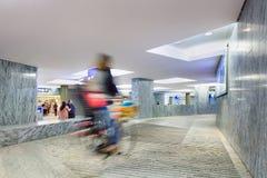 Внутренний новый железнодорожный вокзал Бреда, Нидерланды Стоковые Фото