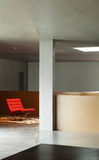 Внутренний дом, бетонная стена Стоковая Фотография