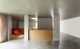 Внутренний дом, бетонная стена Стоковое Изображение RF