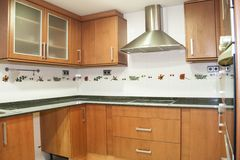 Внутренний дом, новая кухня Стоковое Фото