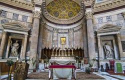Внутренний пантеон - Рим Стоковое Изображение