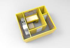 внутренний перевод 3D Стоковые Фото