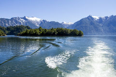 Внутренний проход чилийских фьордов Стоковые Фотографии RF