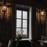Внутренний ресторан Стоковое фото RF