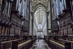 Внутренний собор Солсбери стоковые фото