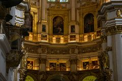 Внутренний собор Catedral de Гранада Гранады, Санта Iglesia Catedral Metropolitana de Ла Encarnacion de Гранада Стоковое фото RF