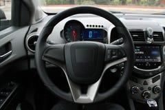 Внутренний современный автомобиль Стоковые Изображения