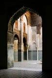Внутренний строб в дворце Fez королевском, Марокко стоковое изображение