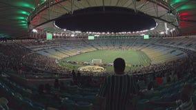 Внутренний футбольный стадион Maracana сток-видео