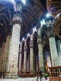 Внутренний Duomo милана Стоковое Фото
