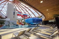 Внутренний Nymphaea Aquapark в Oradea, Румынии Стоковое Изображение RF