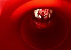 Внутренность большого красного парашюта стоковые изображения