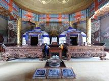 Внутренность мавзолея Genghis khan, саман rgb стоковые фотографии rf