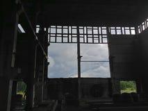 Внутренность покинутой электрической станции тепловой мощности Стоковое фото RF