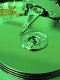 внутренность фильтра зеленая harddrive Стоковое фото RF