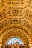 Внутренность Hall St. George - потолок Стоковая Фотография