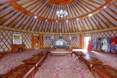 Внутренность Yurt, саман rgb стоковое изображение rf