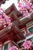 Внутренняя архитектура виска зуба реликвии Buddhas стоковое фото