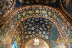 Внутренняя архитектура церков спасителя на крови в Санкт-Петербурге стоковое изображение rf