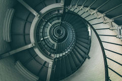 внутренняя винтовая лестница маяка Стоковое фото RF
