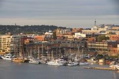 Внутренняя гавань Виктории захода солнца ДО РОЖДЕСТВА ХРИСТОВА Стоковые Изображения RF