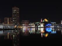 Внутренняя гавань на ноче Стоковые Фотографии RF