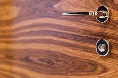Внутренняя деревянная дверь Стоковые Фотографии RF