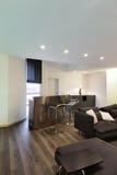 Внутренняя, живущая комната с баром Стоковые Изображения RF