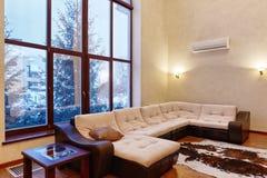 Внутренняя живущая комната Стоковое Изображение