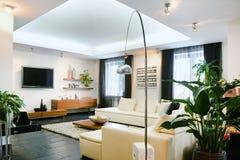 Внутренняя живущая комната Стоковые Изображения
