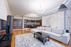 Внутренняя живущая комната Стоковое Изображение RF