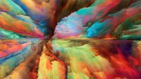 Внутренняя жизнь абстрактного ландшафта Стоковые Фото