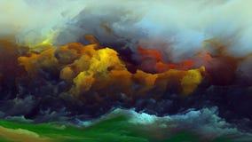 Внутренняя жизнь атмосферы чужеземца иллюстрация вектора