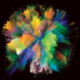 Внутренняя жизнь красочного взрыва выплеска краски стоковые фото